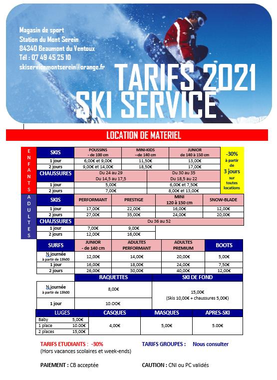 Ski services 2021
